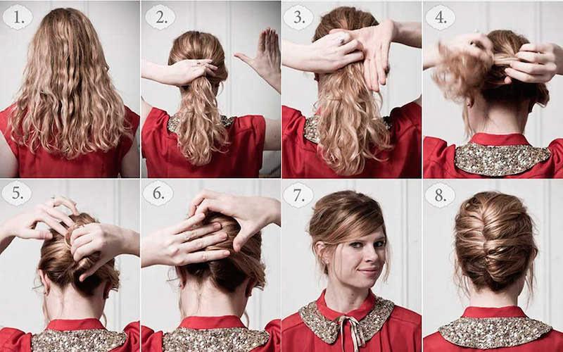 Como hacer un recogido en una peluca